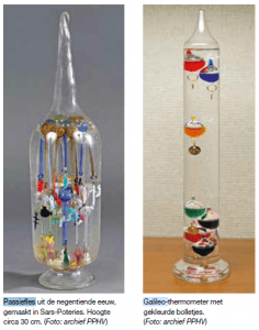 passiefles en Galileo-thermometer