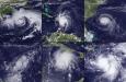Zesmaal de tropische cycloon Emily, 1981-2011. Bron: NOAA