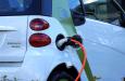 elektrische auto, opladen, batterij, leeg, winter